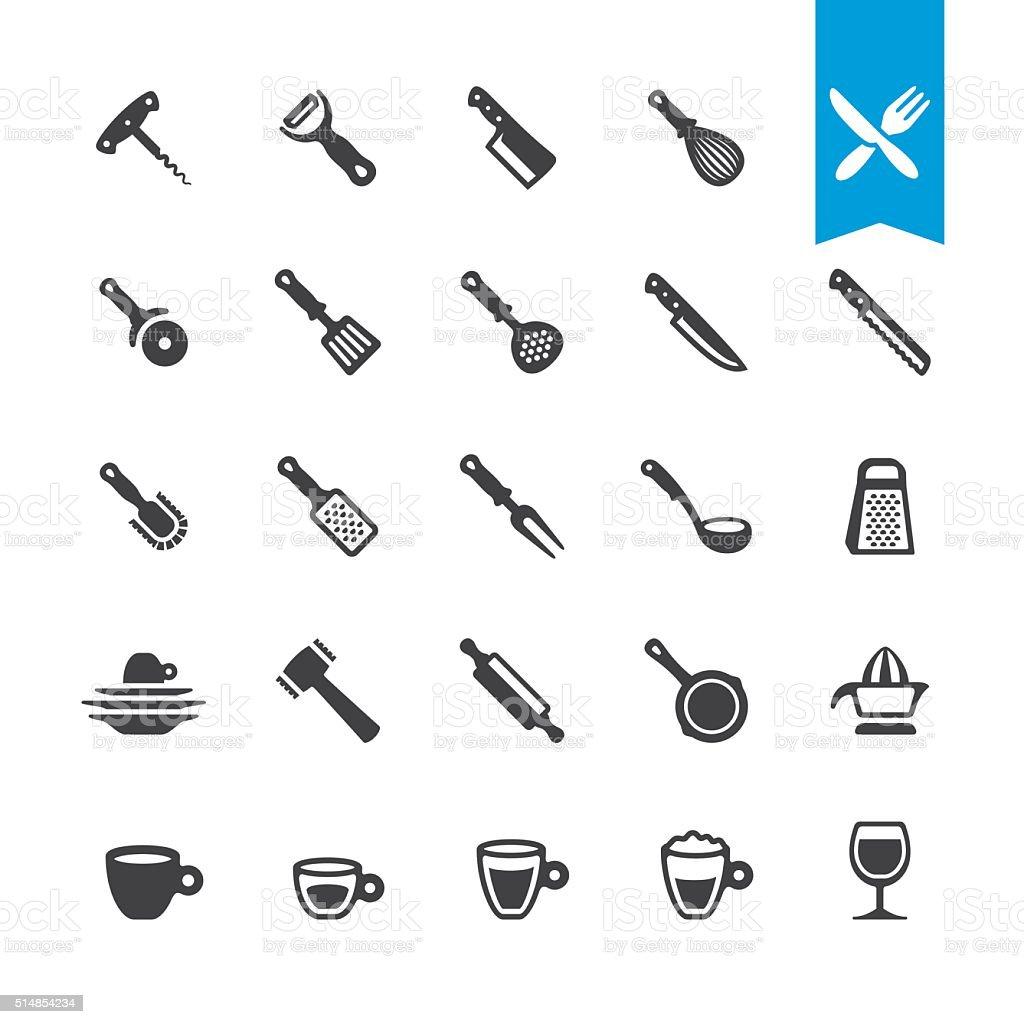 Kitchen Utensil vector icons vector art illustration