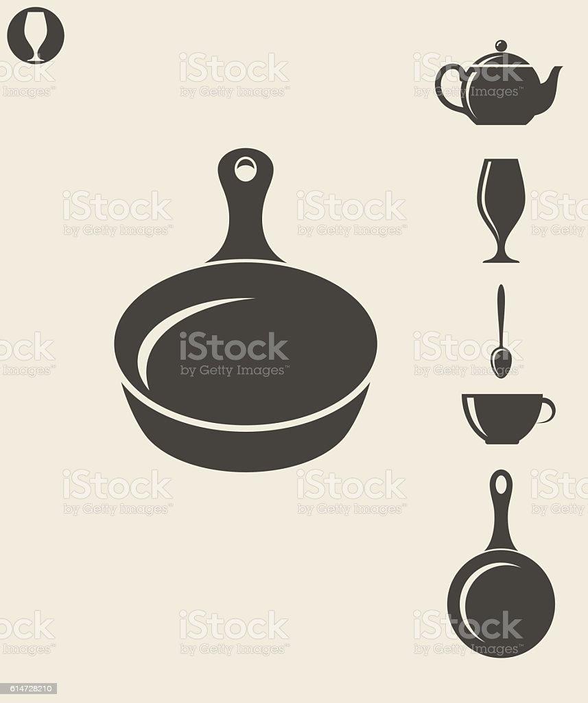 Kitchen utensil vector art illustration