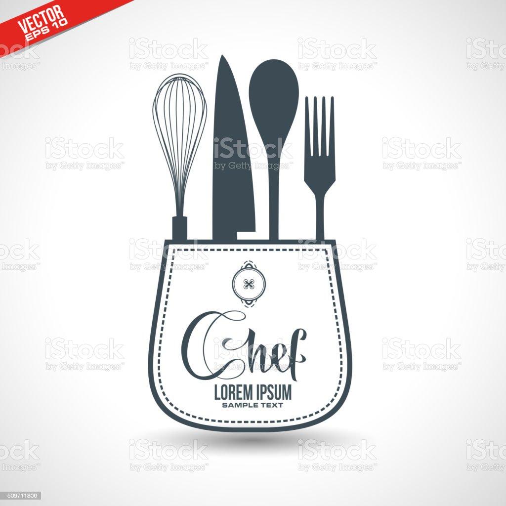kitchen utensils concept design vector art illustration