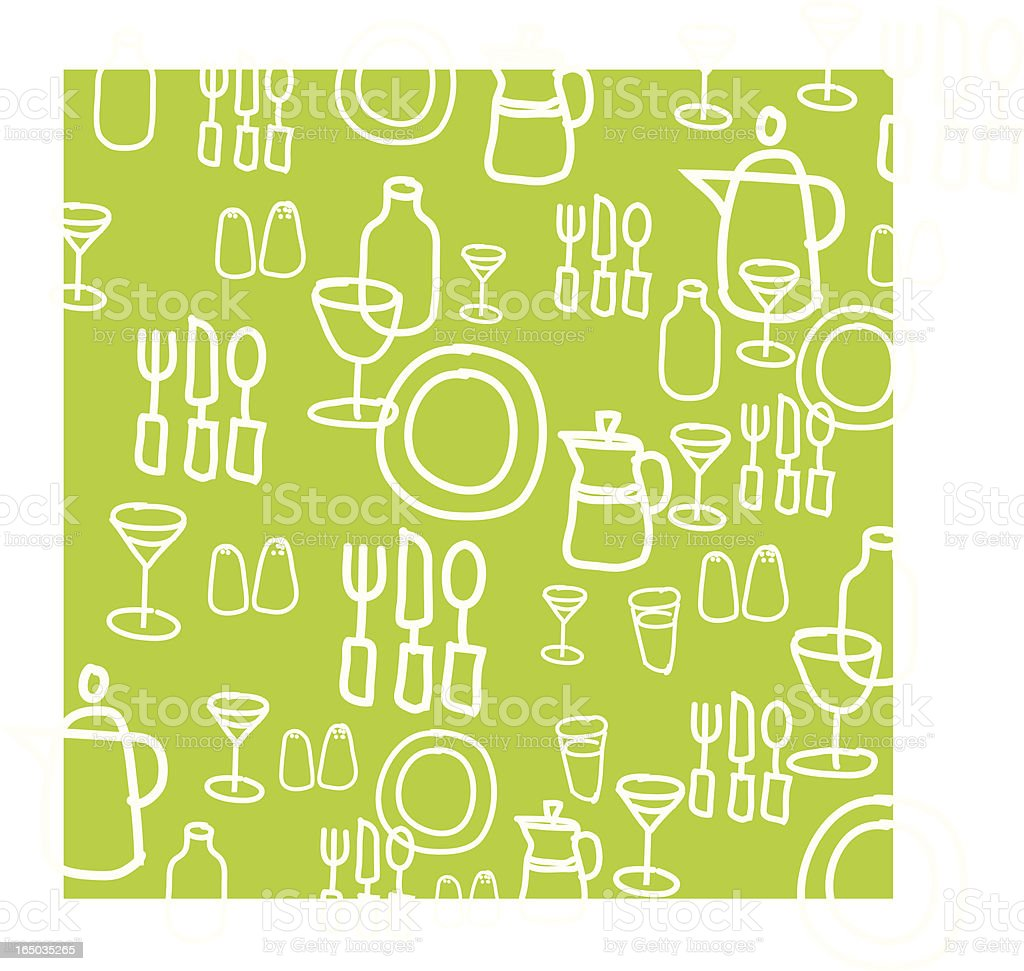 Kitchen Utensils Graphic Background royalty-free stock vector art