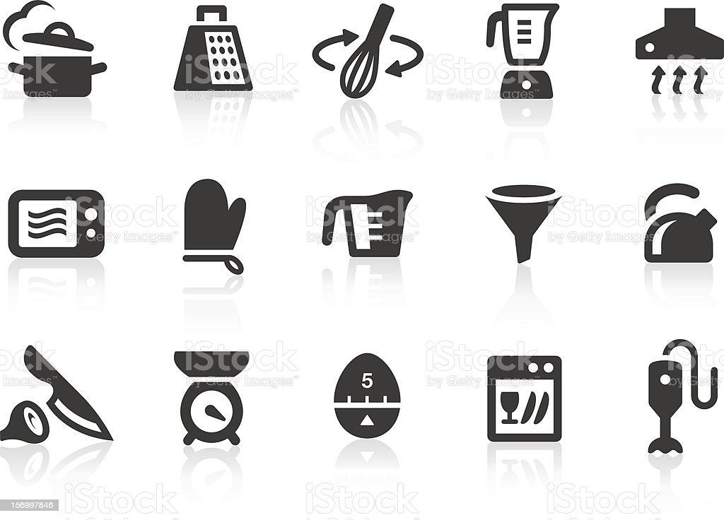 Kitchen Utensils icons 1 royalty-free stock vector art