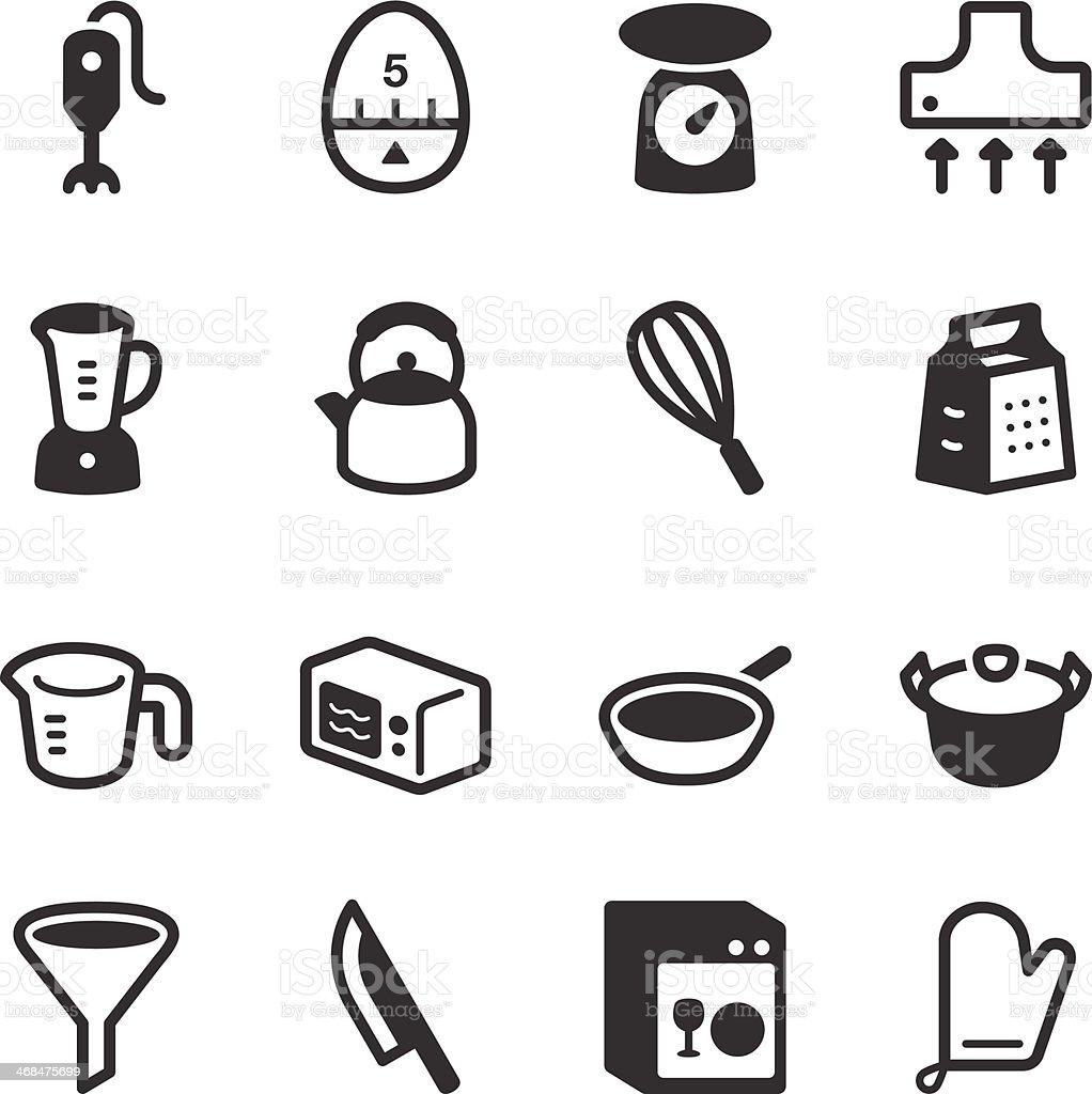 Kitchen Utensils Icons | set 1 vector art illustration