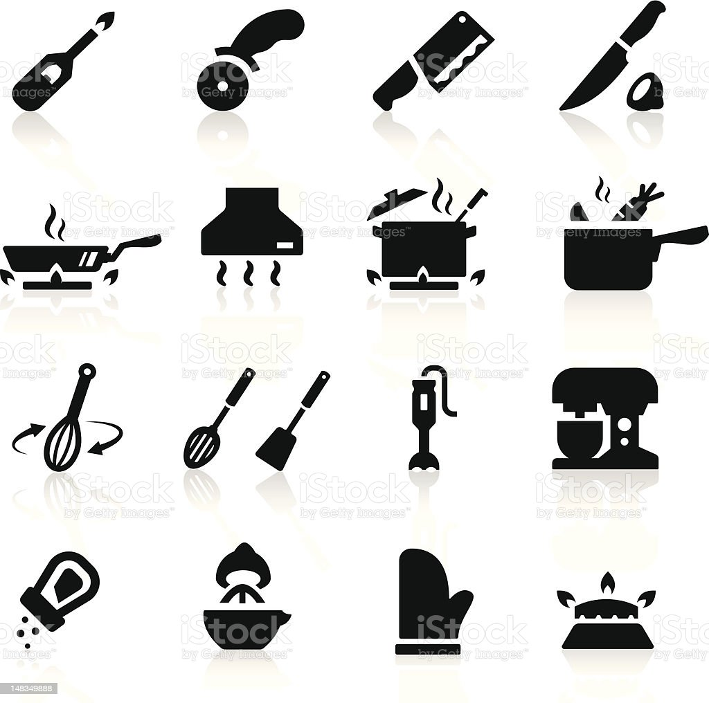 Kitchen utensils icons royalty-free stock vector art