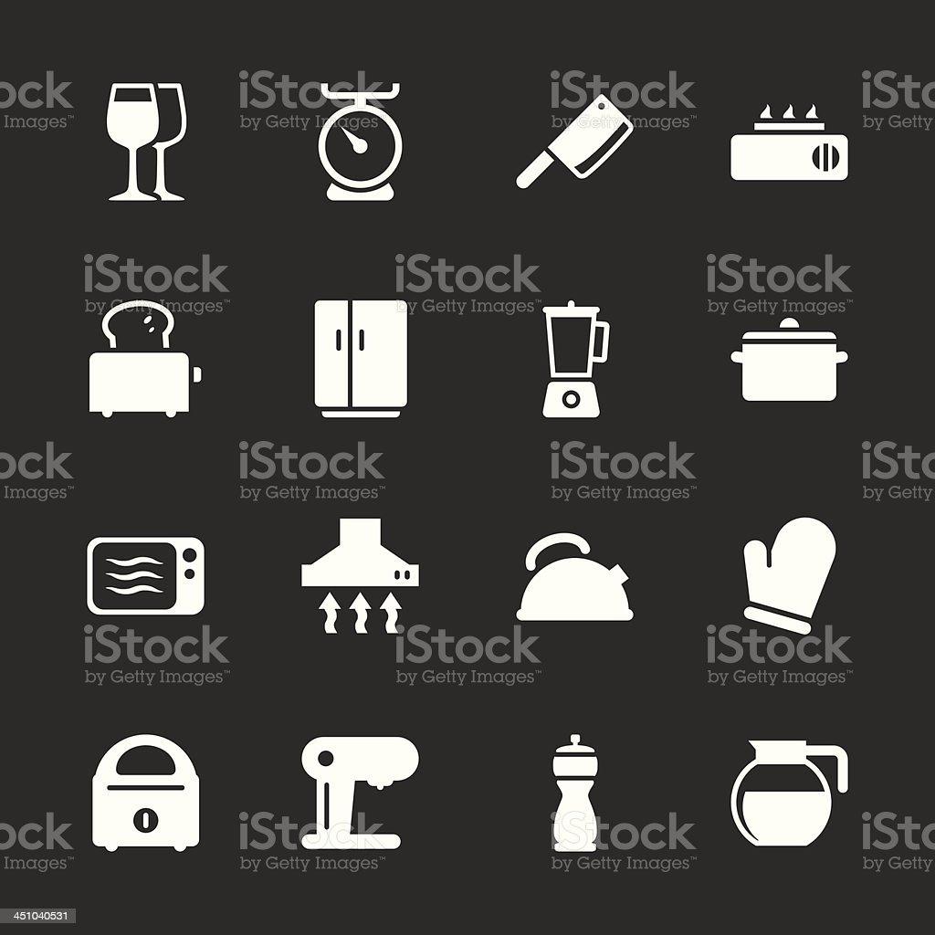 Kitchen Utensils Icons - White Series | EPS10 royalty-free stock vector art