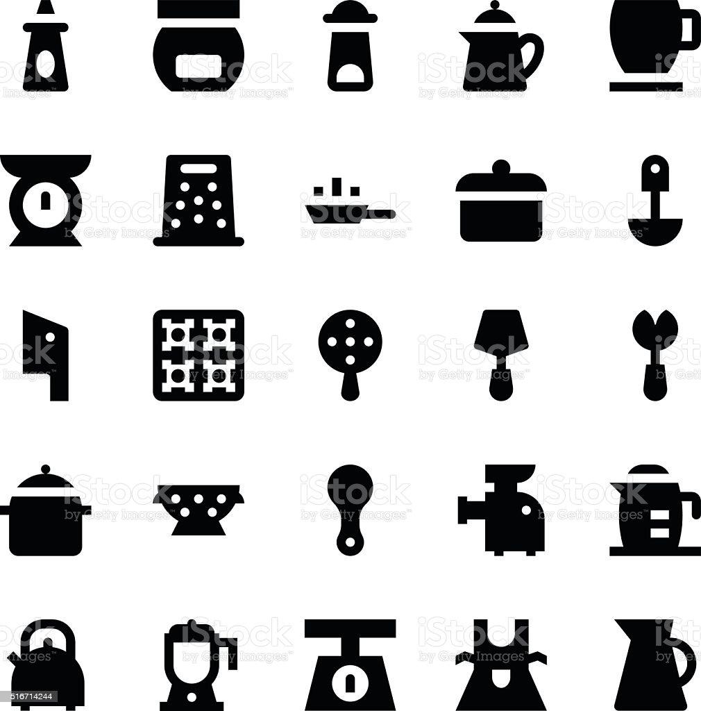 Kitchen Utensils Vector Icons 10 vector art illustration