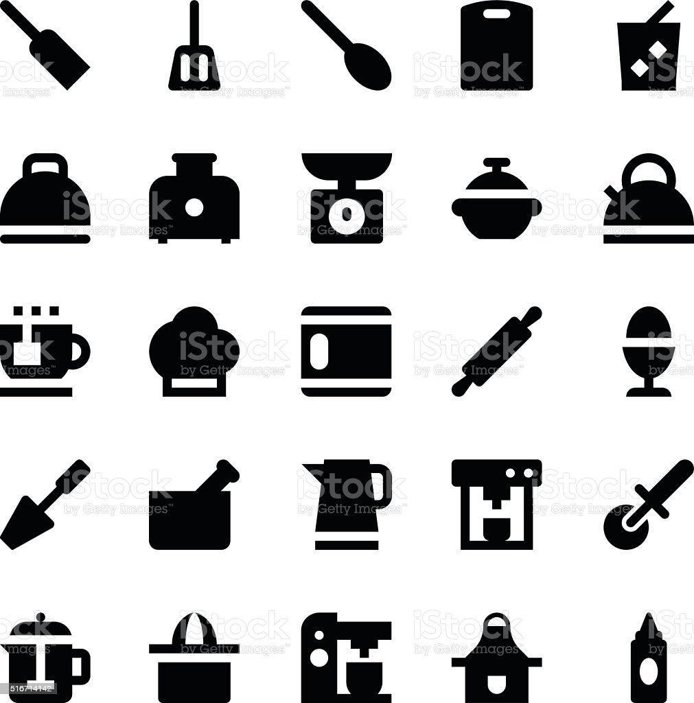Kitchen Utensils Vector Icons 5 vector art illustration