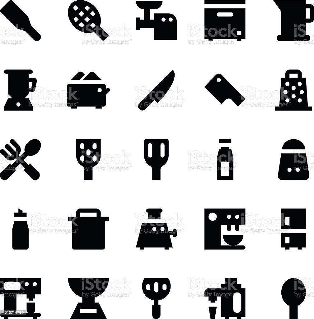 Kitchen Utensils Vector Icons 8 vector art illustration
