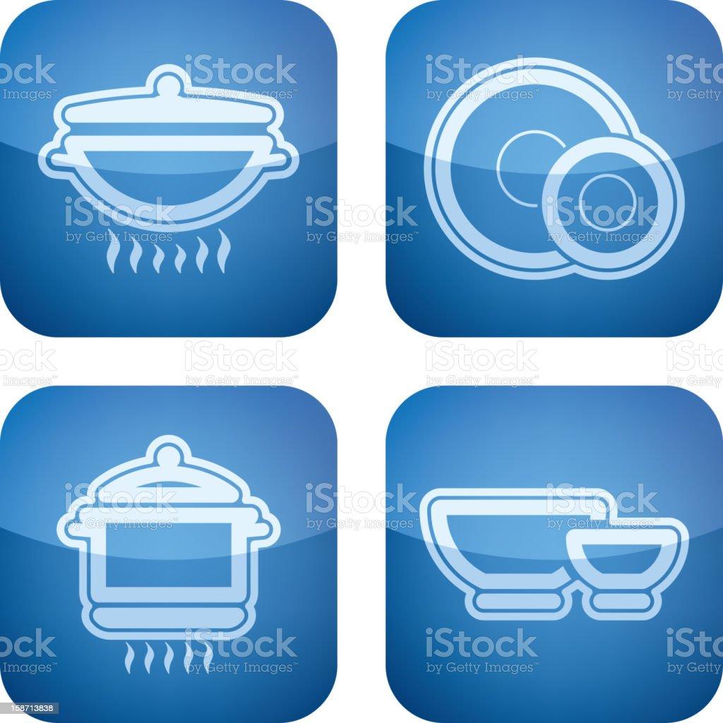 Kitchen utensils royalty-free stock vector art