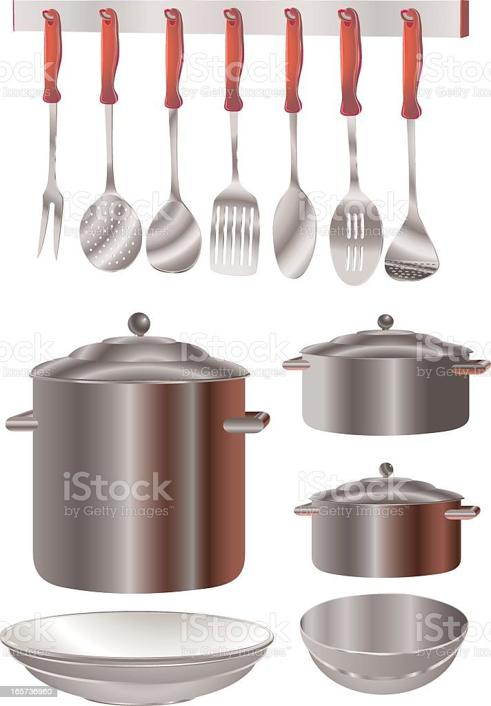 Kitchen Utensils royalty-free stock vector art