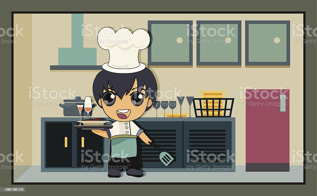 kitchen royalty-free stock vector art