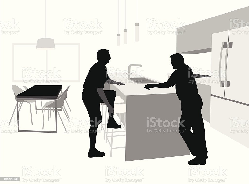 Kitchen Vector Silhouette royalty-free stock vector art