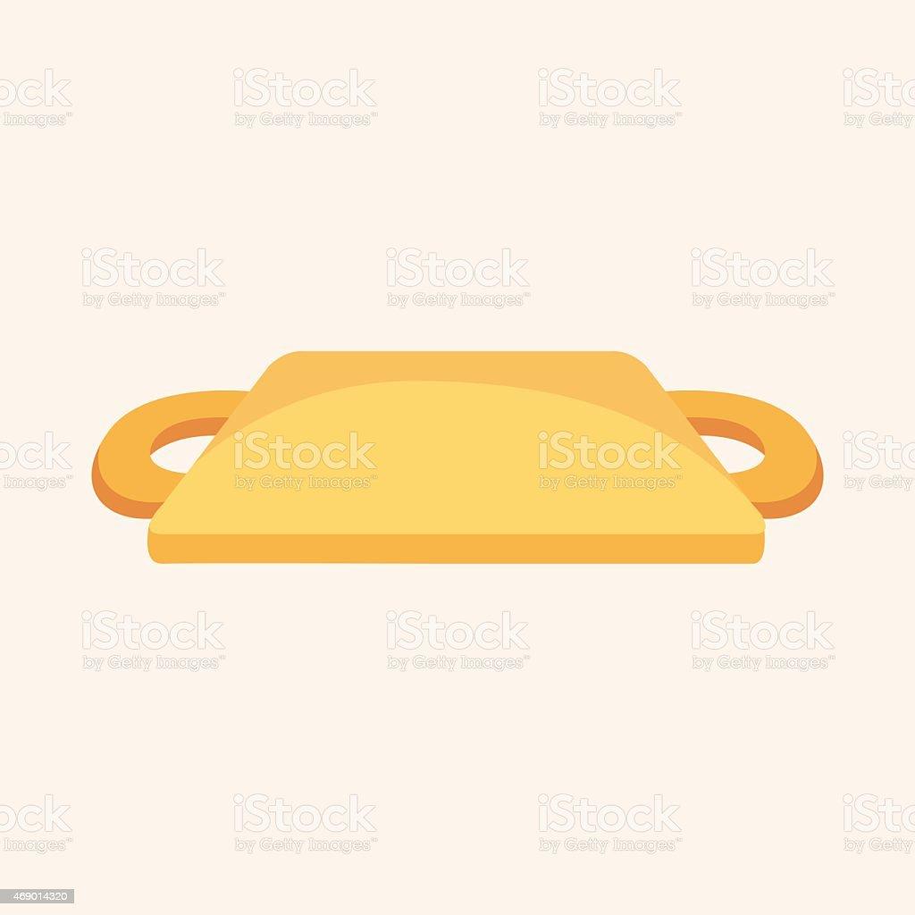 kitchenware chopping board theme elements vector art illustration