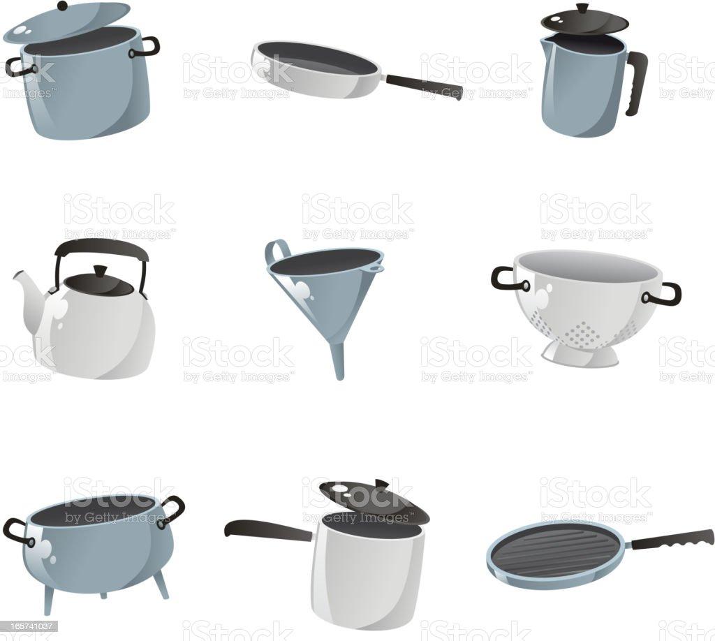 Kitchenware collection vector art illustration