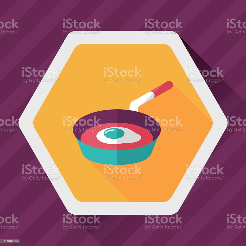 kitchenware frying pan and shovel flat icon vector art illustration