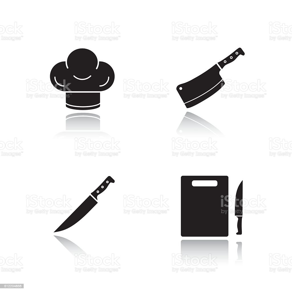 Kitchenware icons vector art illustration