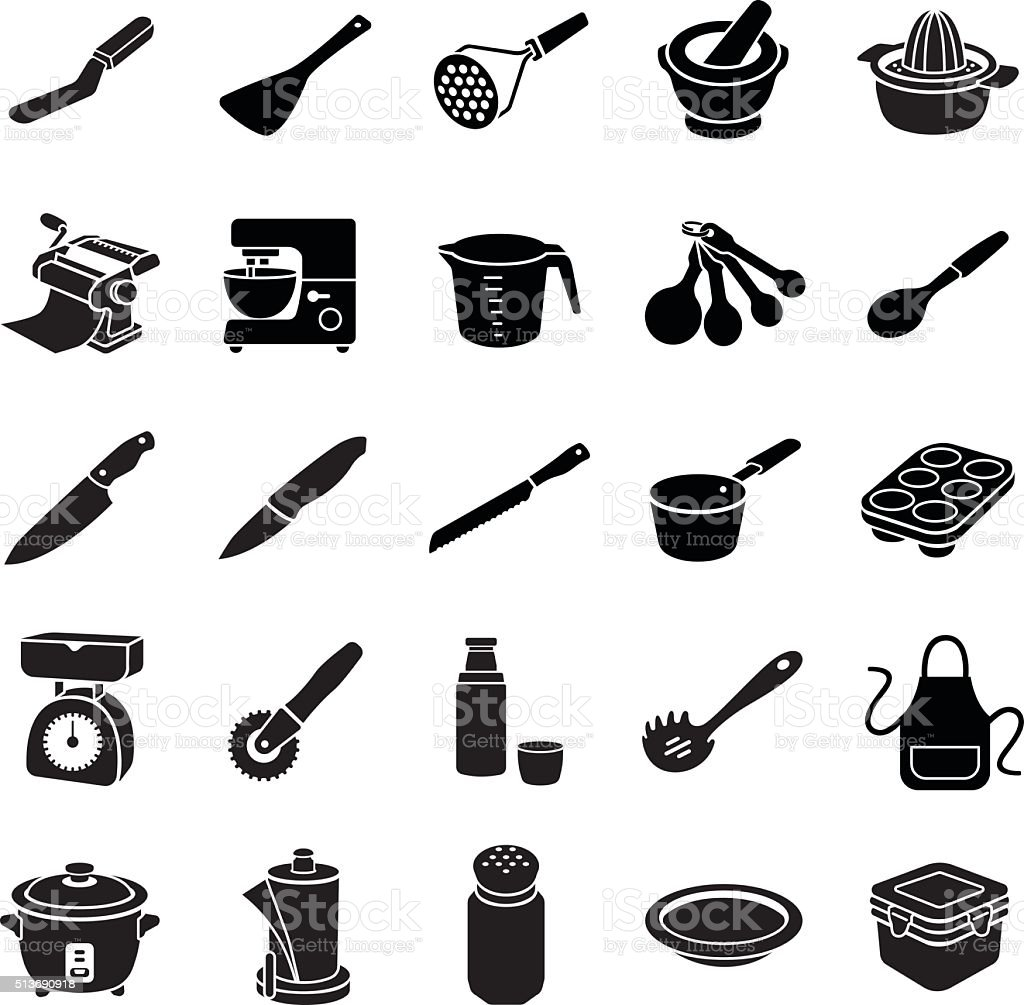 Kitchenware II vector icons vector art illustration