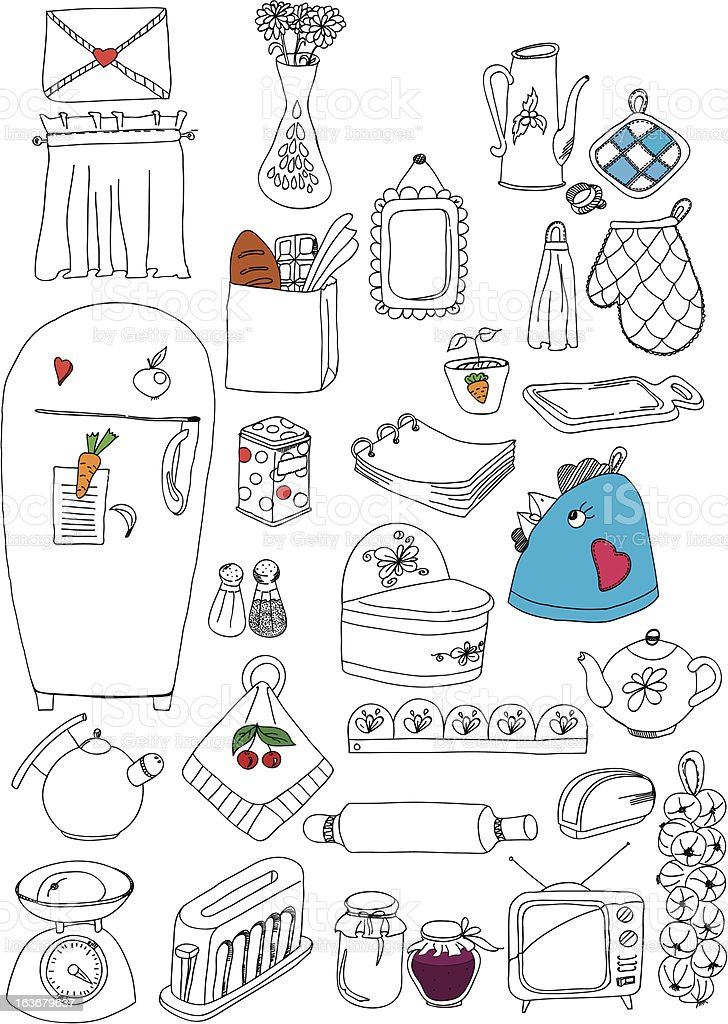 kitchenware royalty-free stock vector art