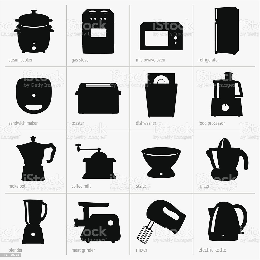 Kitchenware vector art illustration