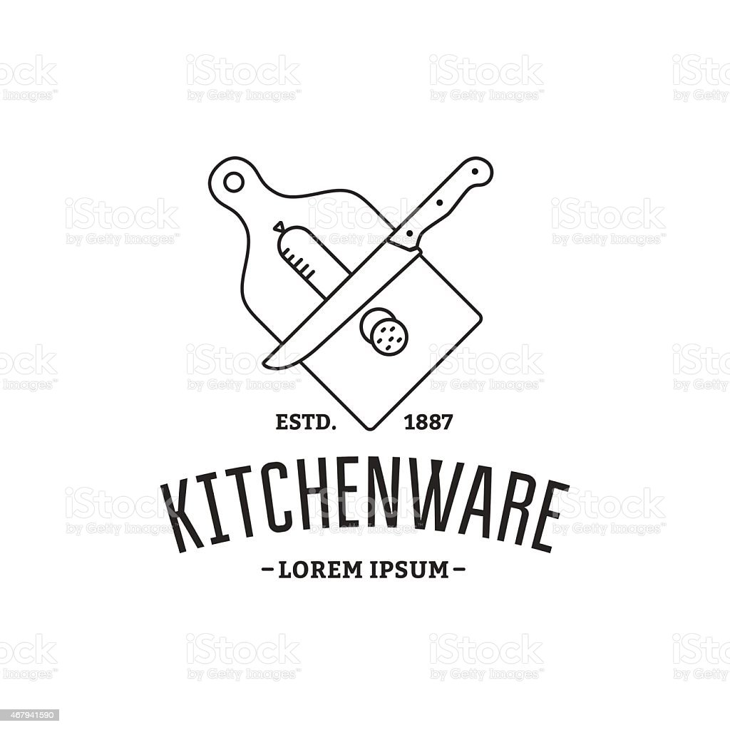 Kitchenware vector art illustration