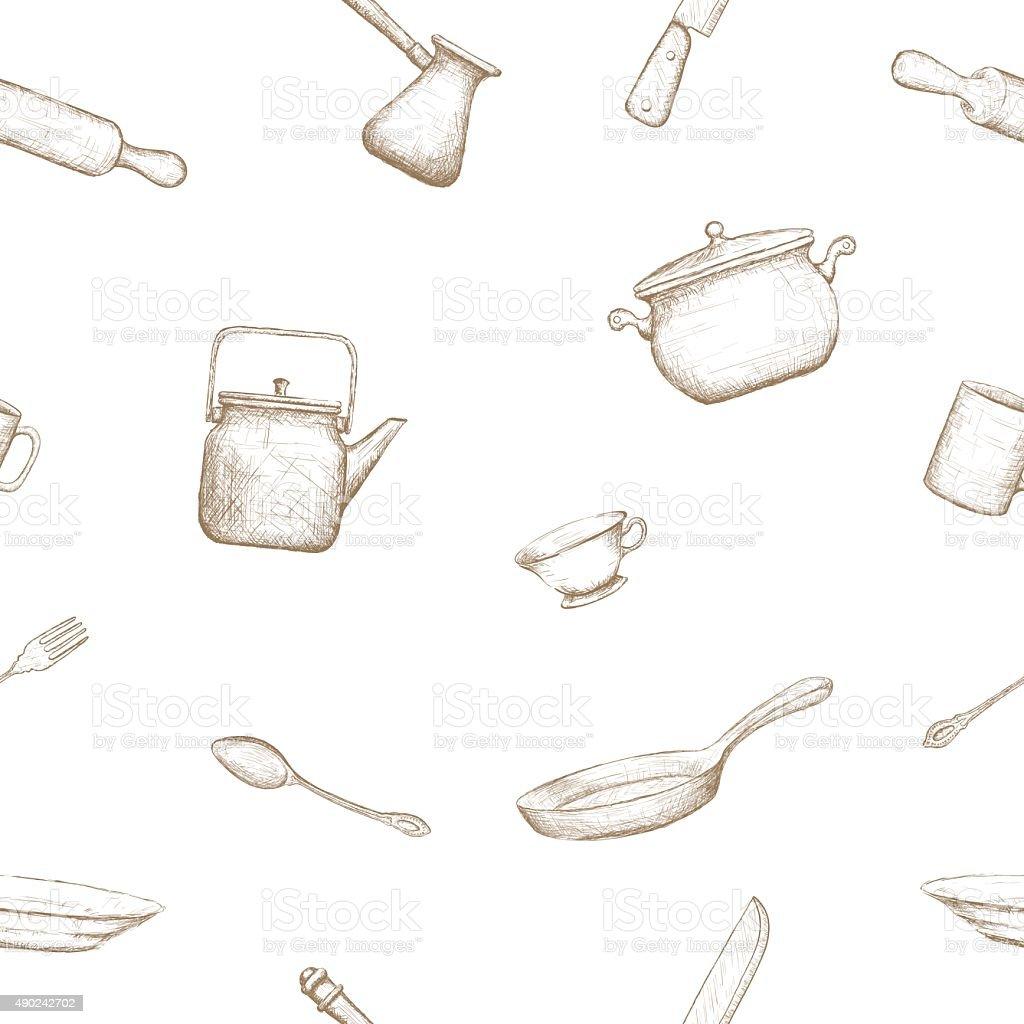 Kitchenware. vector art illustration