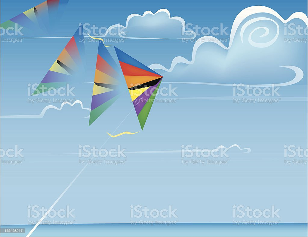 Kite Flying Weather royalty-free stock vector art
