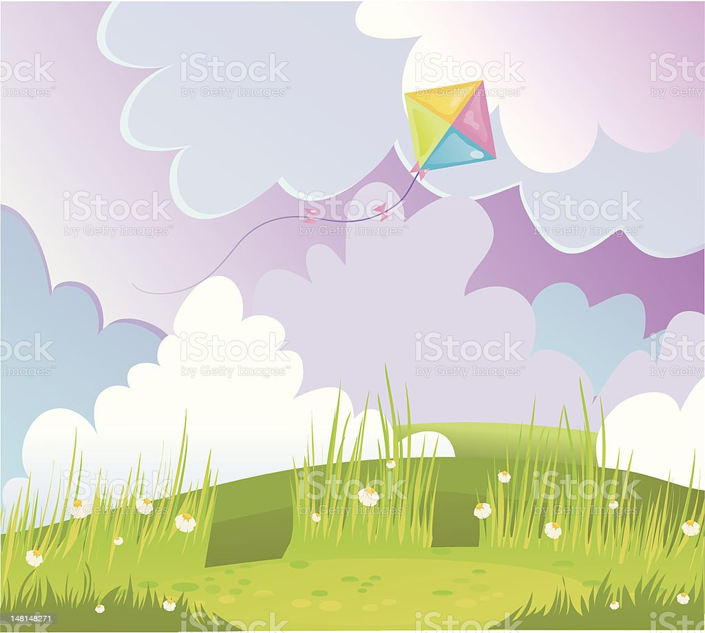 kite royalty-free stock vector art