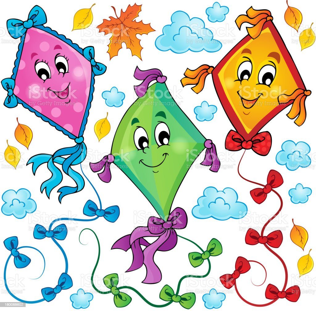 Kites theme image 3 royalty-free stock vector art