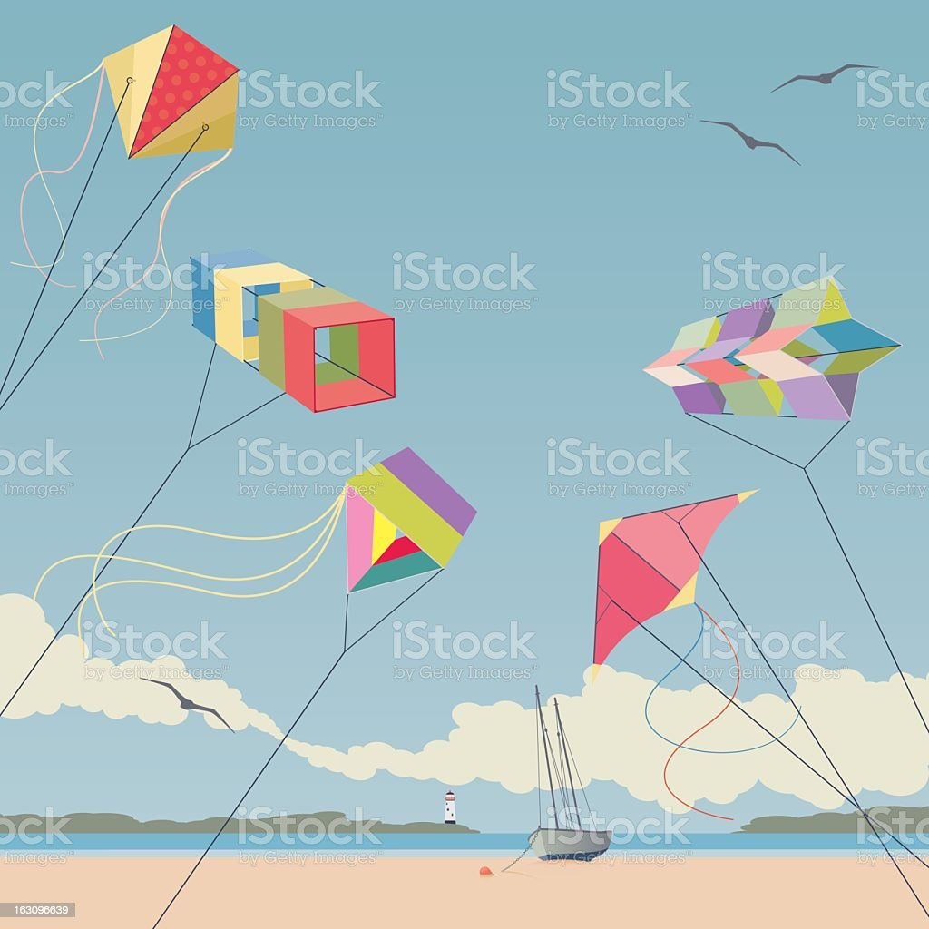 Kites stock photo