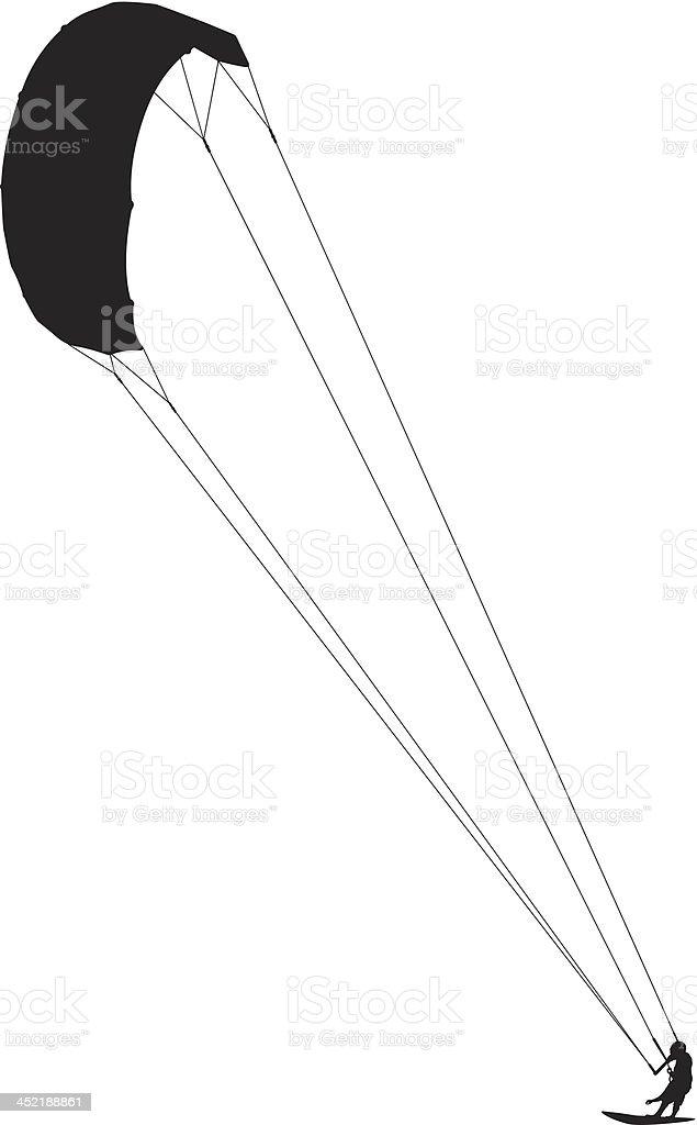 Kitesurfing royalty-free stock vector art