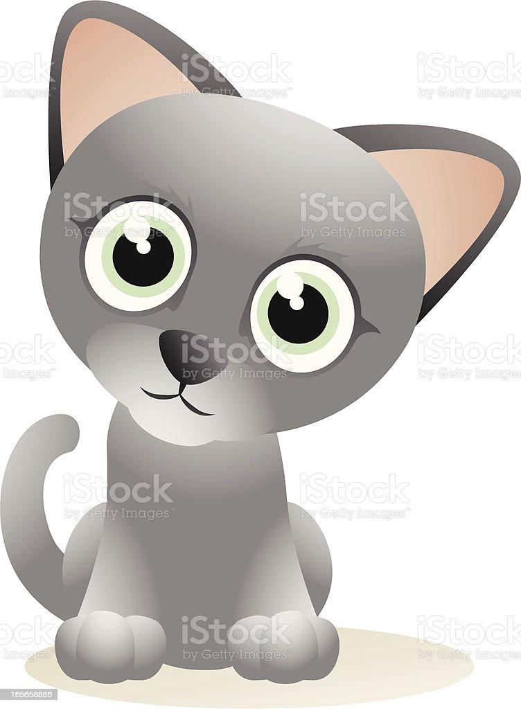 Kitten Cartoon vector art illustration