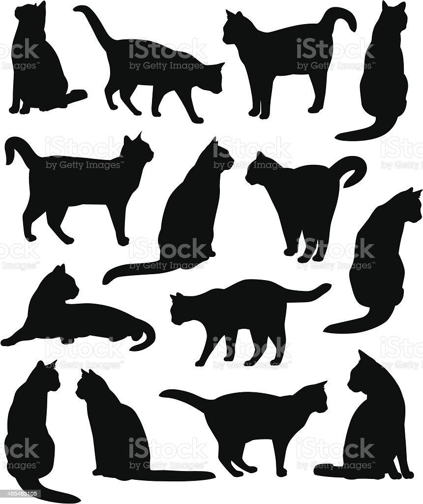 Kitty Cats royalty-free stock vector art