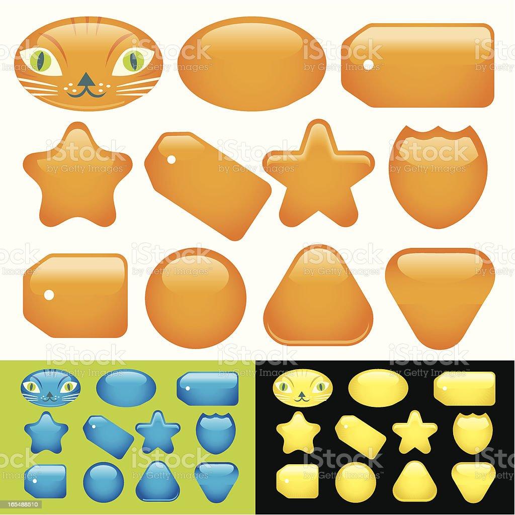Kitty Kat's Kolorful Kollection royalty-free stock vector art