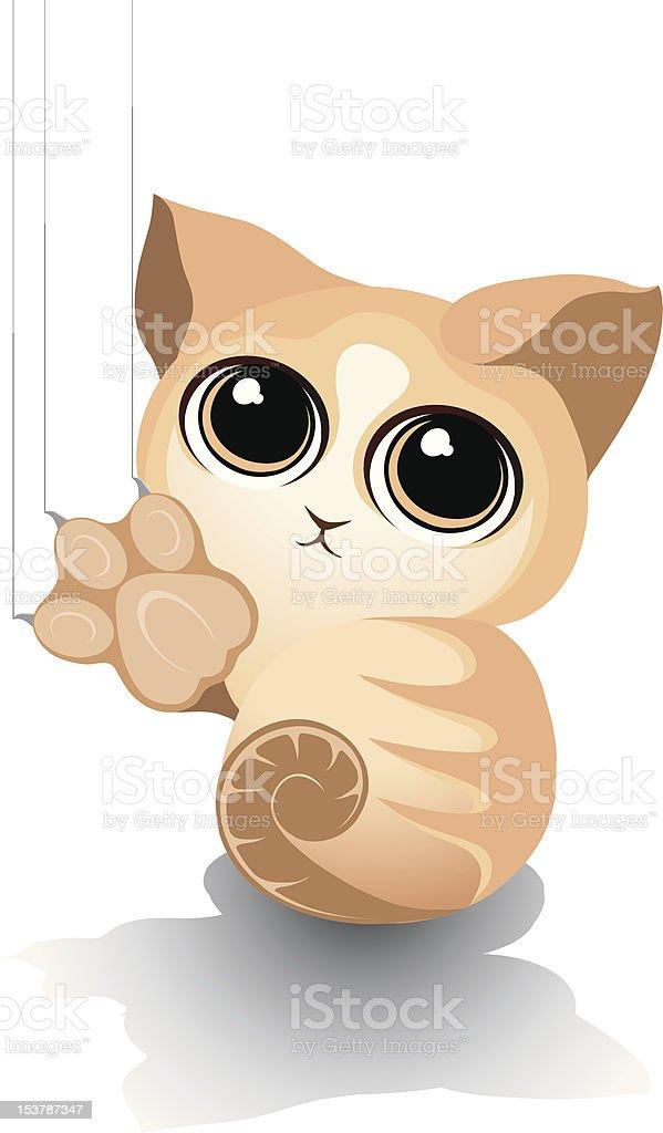 Kitty Play vector art illustration