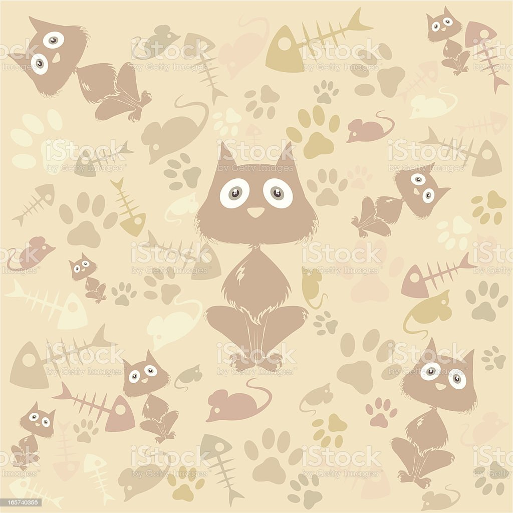 Kitty seamless background royalty-free stock vector art