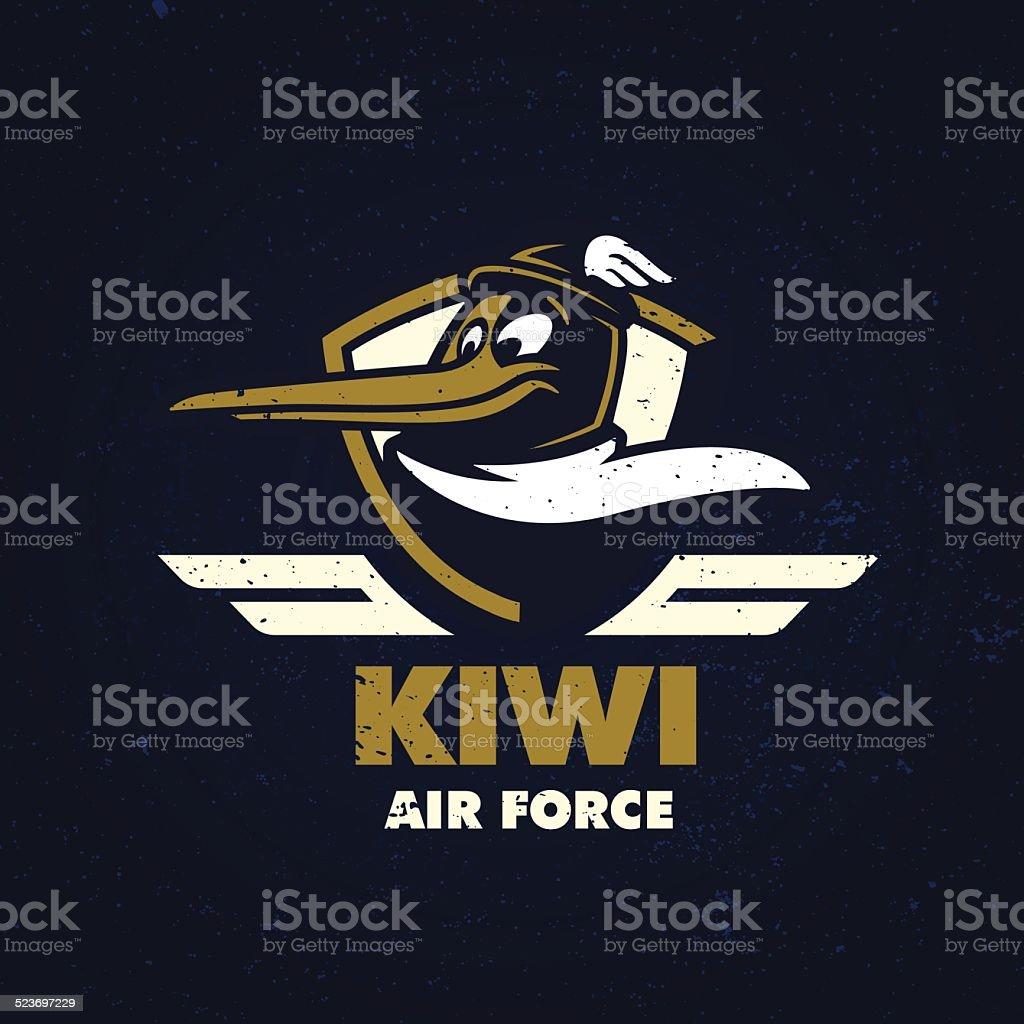 'Kiwi Air Force' t-shirt design vector art illustration