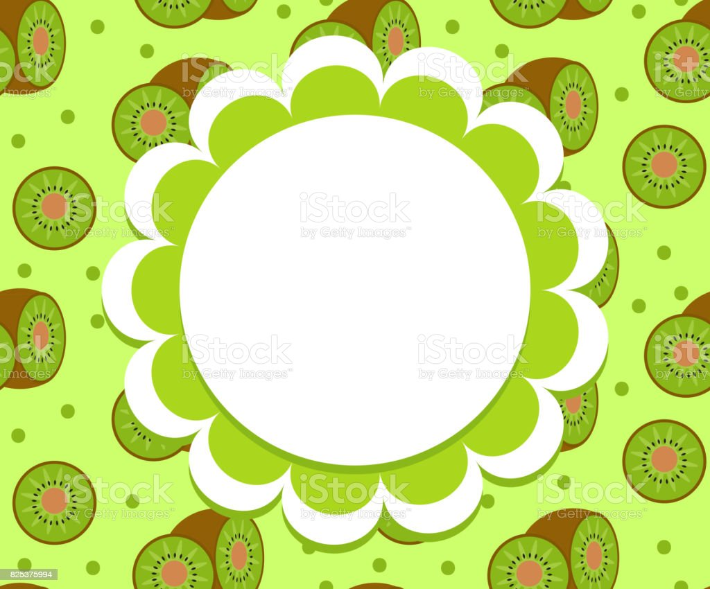 Etiqueta De Kiwi Plantilla De Envoltura Para Su Diseño Marco De ...
