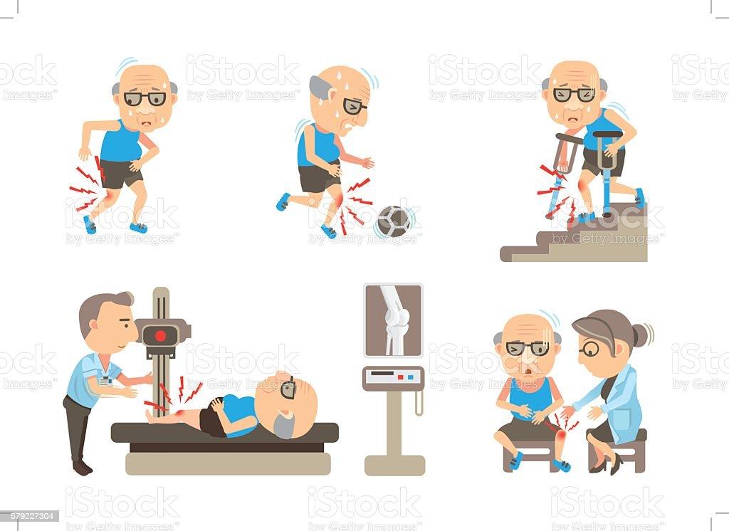 Knee Pain vector art illustration