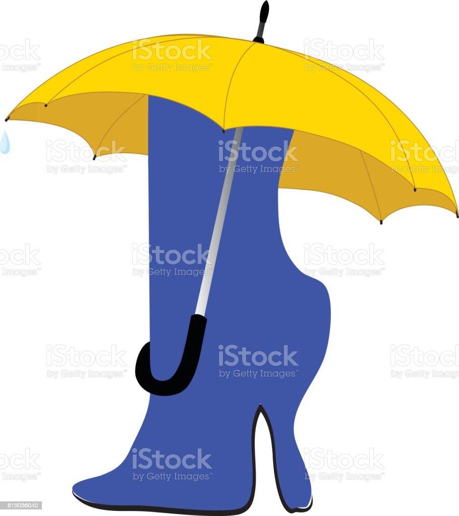 knee-boot vector art illustration