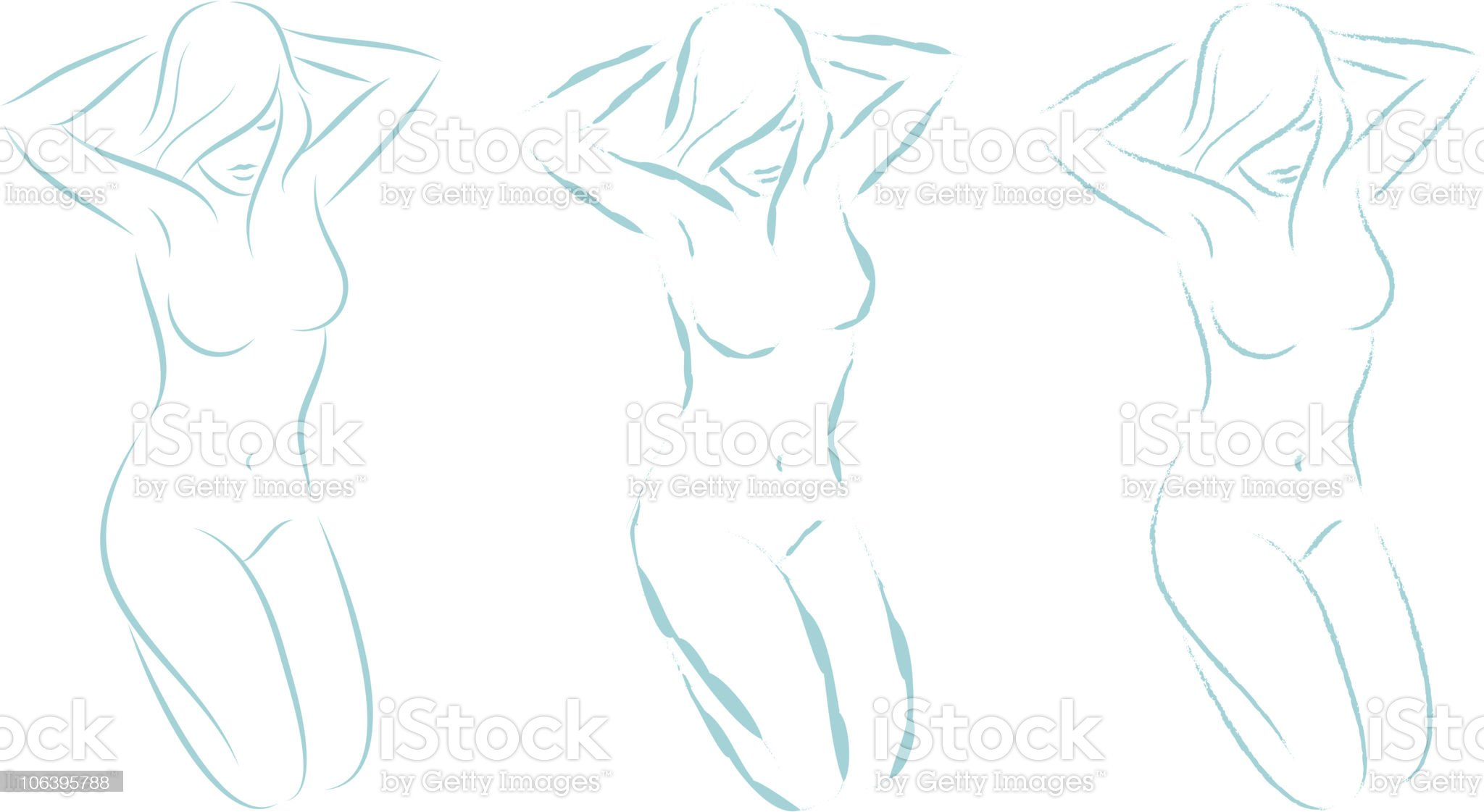 kneeling woman 04 royalty-free stock vector art