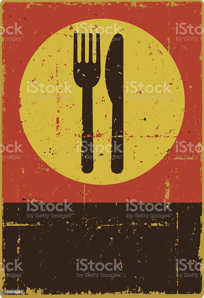 Knife and Fork royalty-free stock vector art