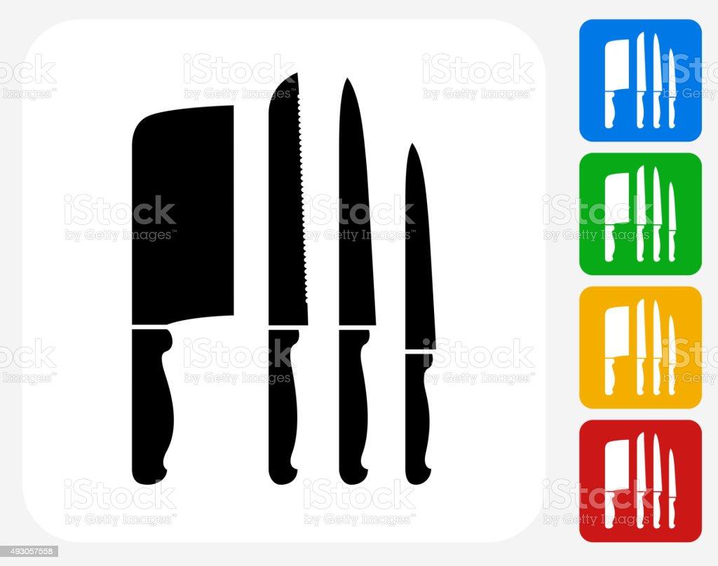 Knife Icon Flat Graphic Design vector art illustration