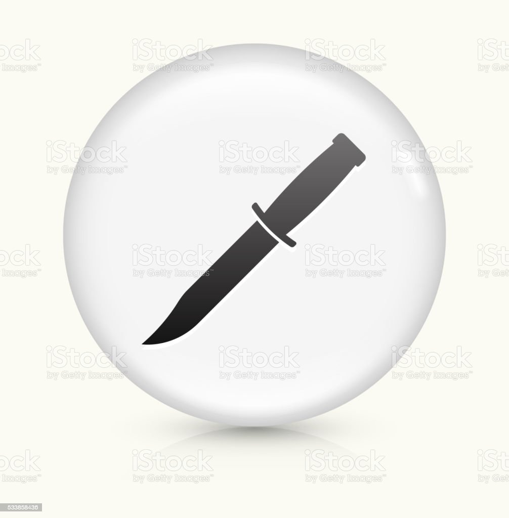 Knife icon on white round vector button vector art illustration