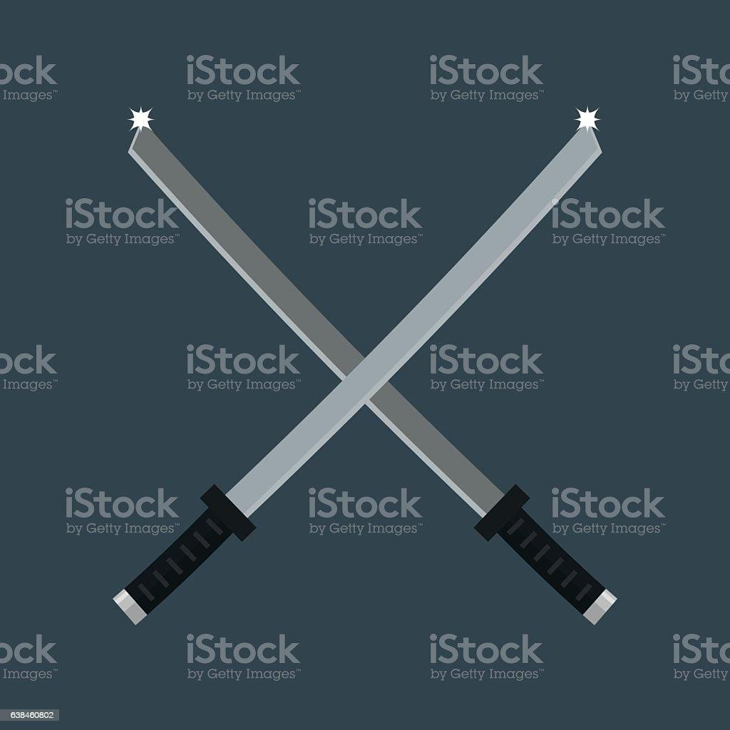 Knife weapon vector illustration. vector art illustration