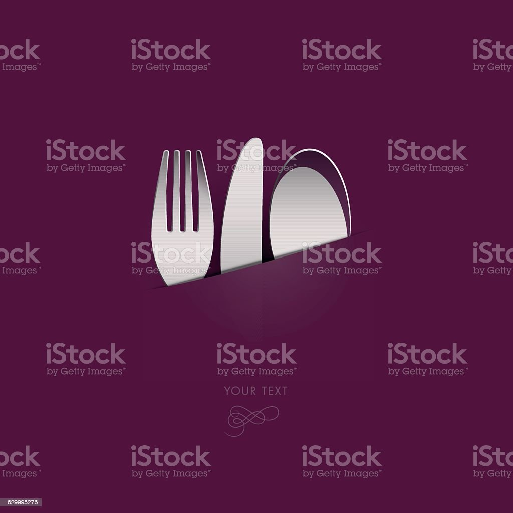 knife_fork_spoon_red vector art illustration
