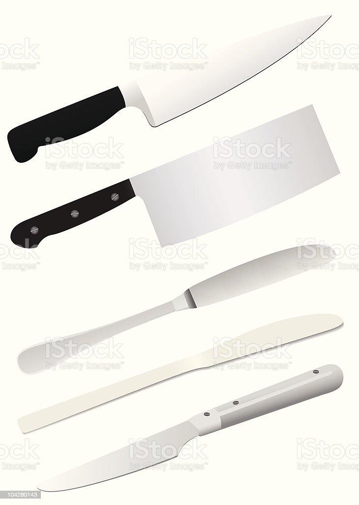 Knifes royalty-free stock vector art