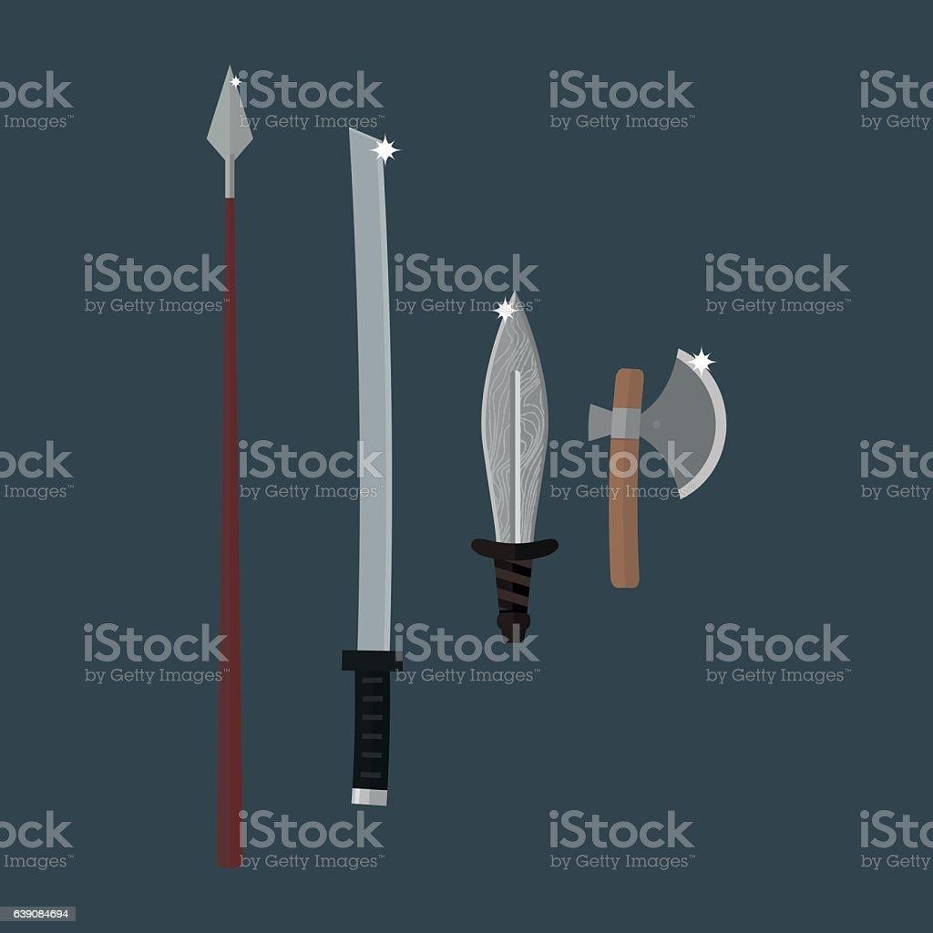 Knifes weapon vector illustration. vector art illustration
