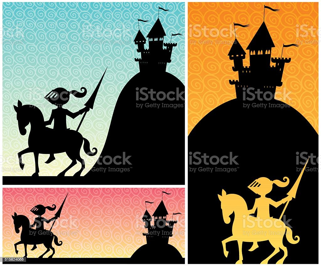 Knight Backgrounds vector art illustration
