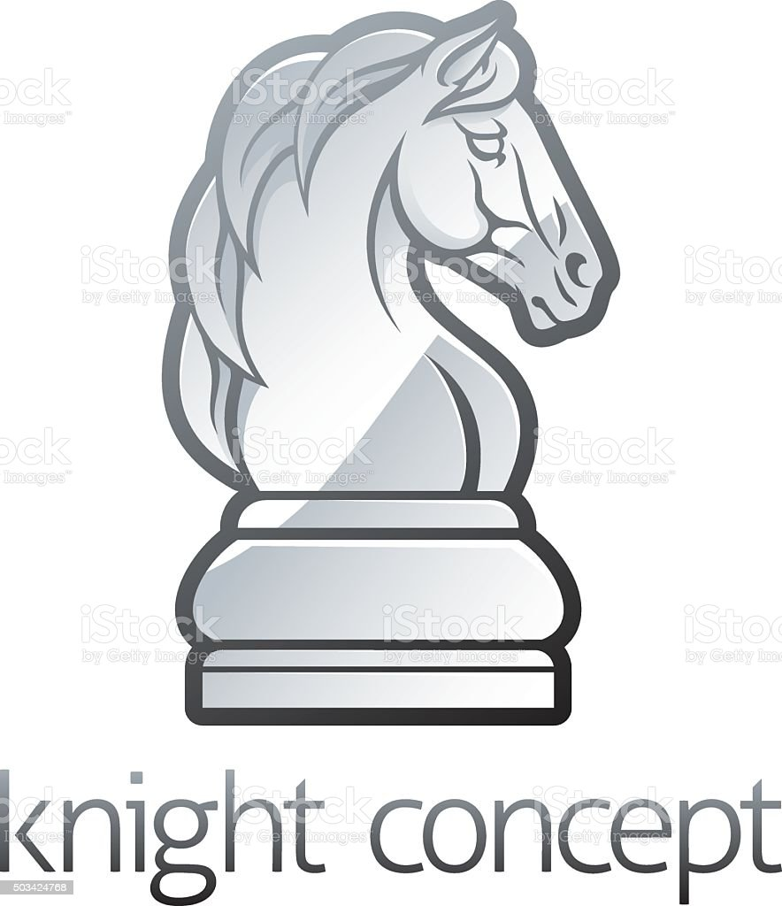 Knight Chess Piece Concept vector art illustration