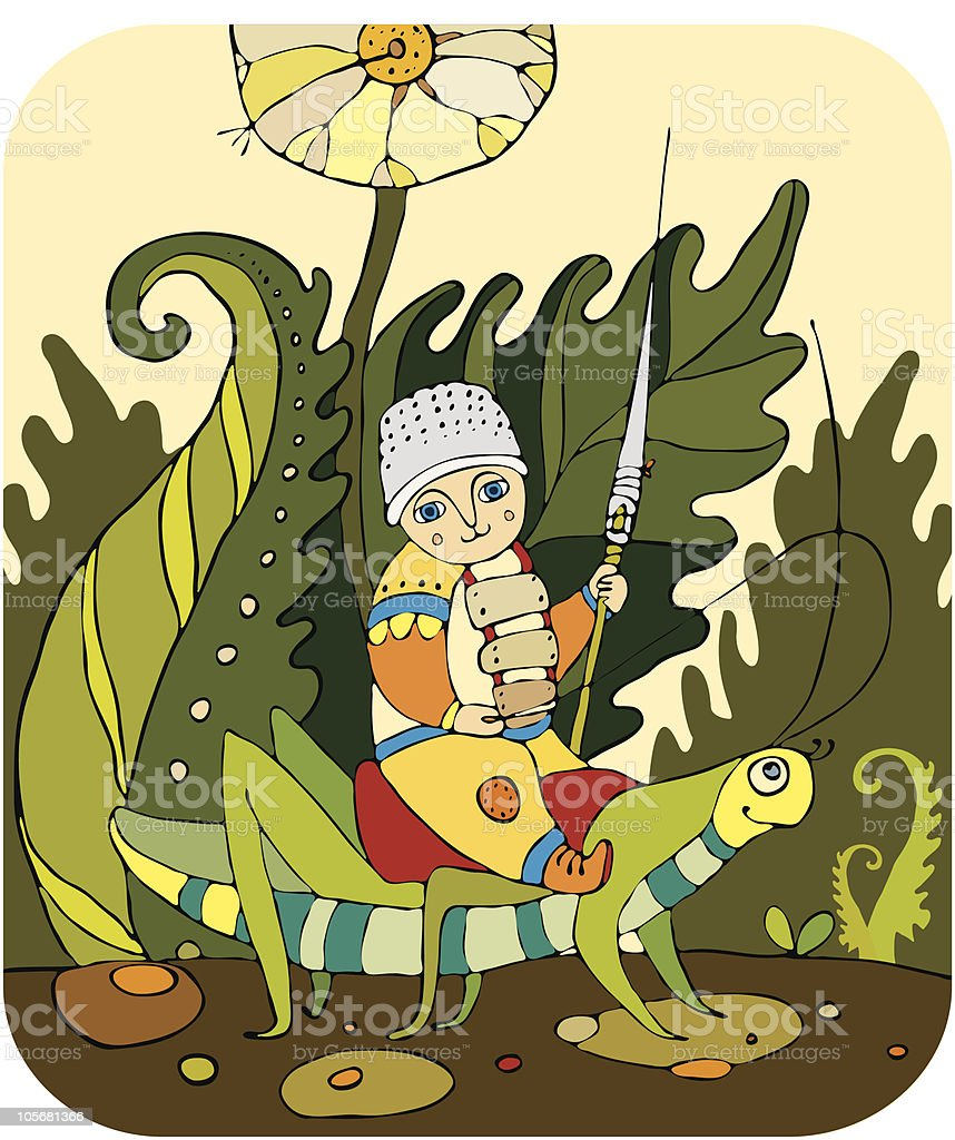 knight errant royalty-free stock vector art