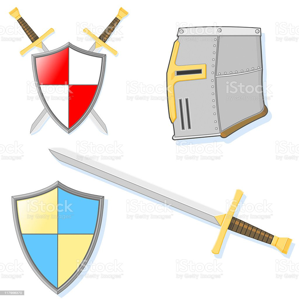 Knight Icon Set vector art illustration